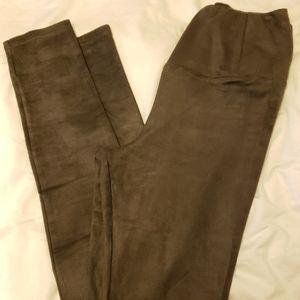 Wilfred Pants - Wilfred Free Daria Faux Suede leggings Brown